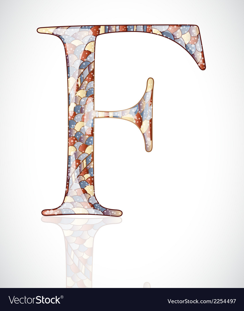 Abstract letter f vector | Price: 1 Credit (USD $1)