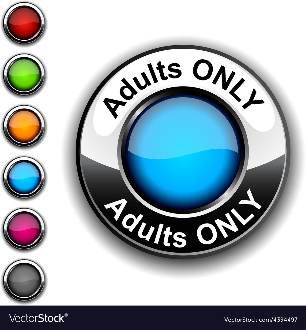 Adults only button vector | Price: 1 Credit (USD $1)