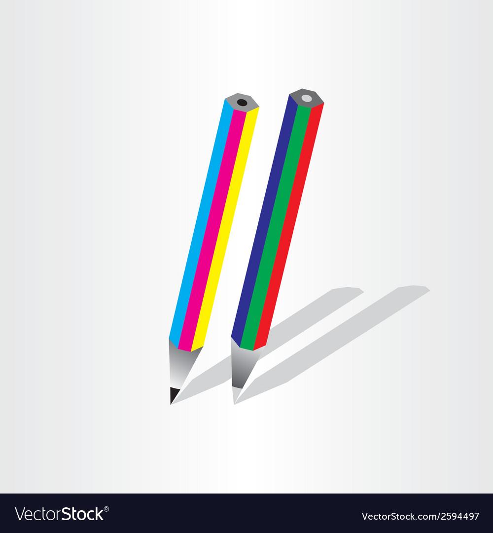 Color pencil rgb cmyk vector   Price: 1 Credit (USD $1)
