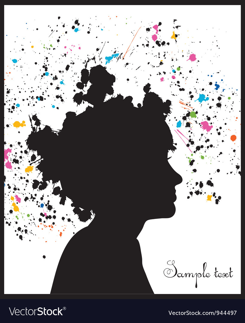 Grunge head silhouette vector | Price: 1 Credit (USD $1)