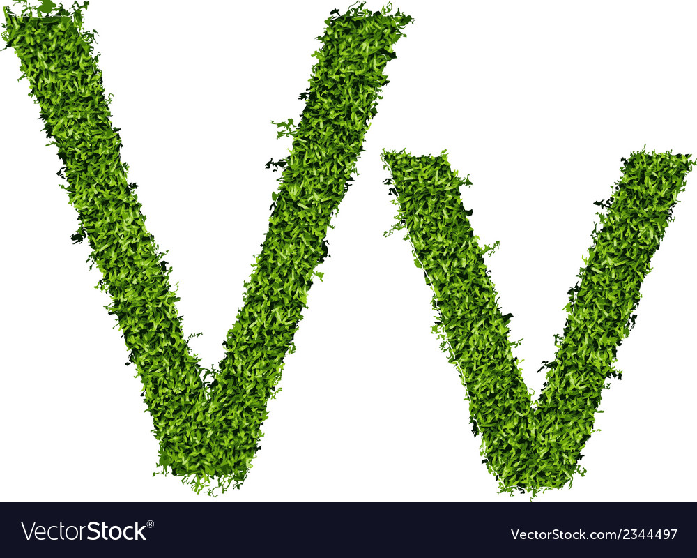 Isolated grass alphabet on white background vector   Price: 1 Credit (USD $1)