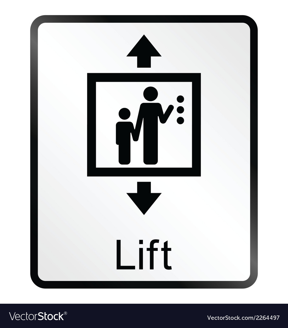 Lift information sign vector | Price: 1 Credit (USD $1)