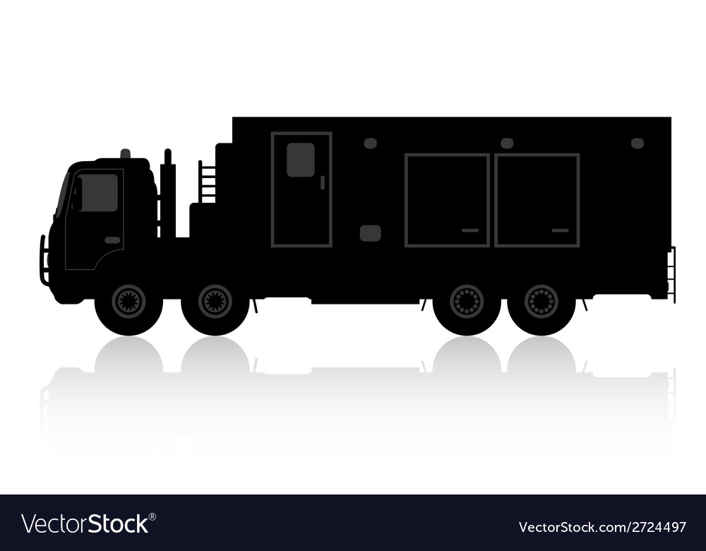 Silhouette of a truck on a white background vector | Price: 1 Credit (USD $1)