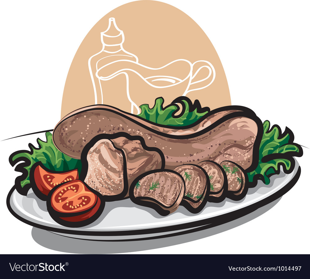 Veal tongue vector | Price: 1 Credit (USD $1)