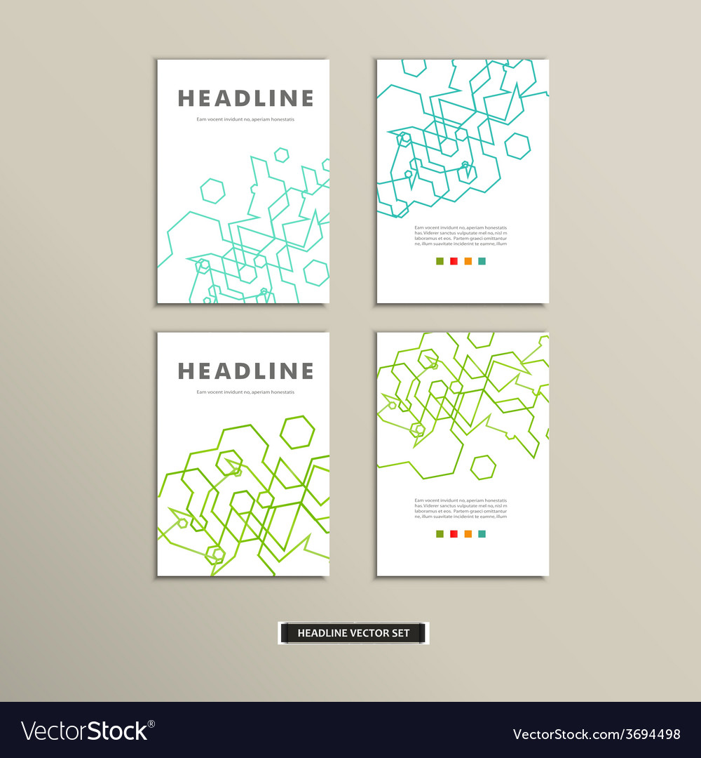 Book cover with abstract linear circuits eps vector | Price: 1 Credit (USD $1)