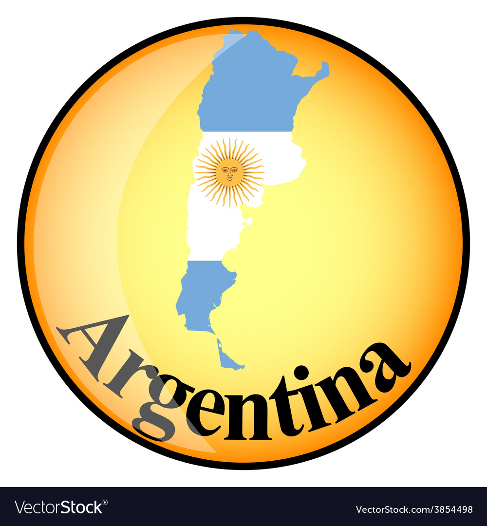 Button argentina vector | Price: 1 Credit (USD $1)