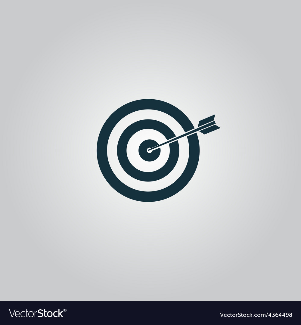 Dart is in the center of dartboard vector | Price: 1 Credit (USD $1)
