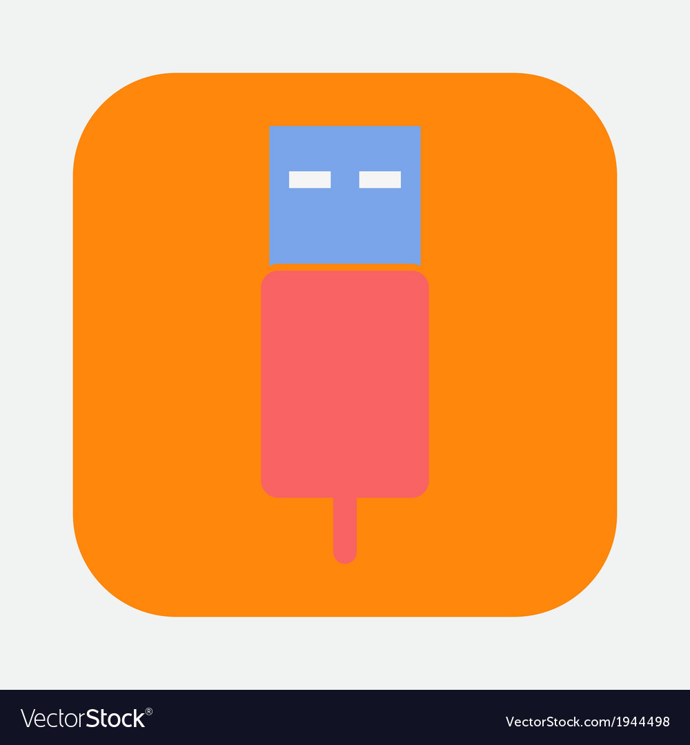 Flash connector icon vector | Price: 1 Credit (USD $1)