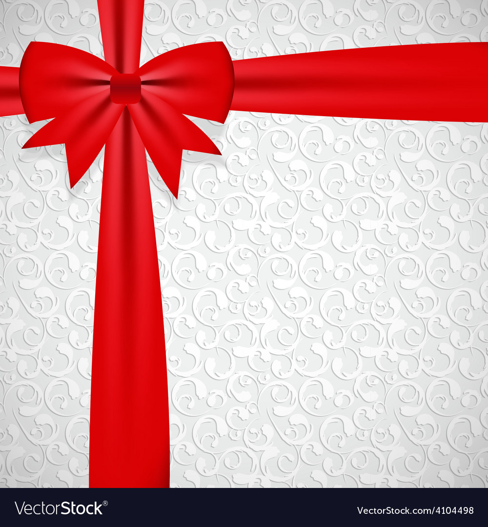 Gift bow with ribbon background vector | Price: 1 Credit (USD $1)