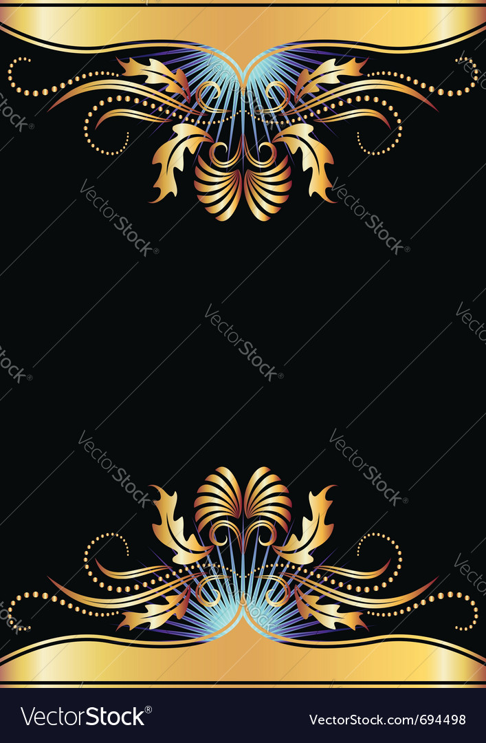 Golden ornament poster vector | Price: 1 Credit (USD $1)