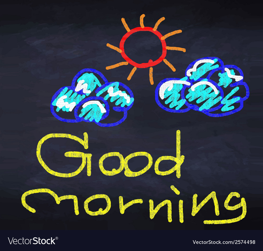 Good morning with sunny and cloud vector | Price: 1 Credit (USD $1)