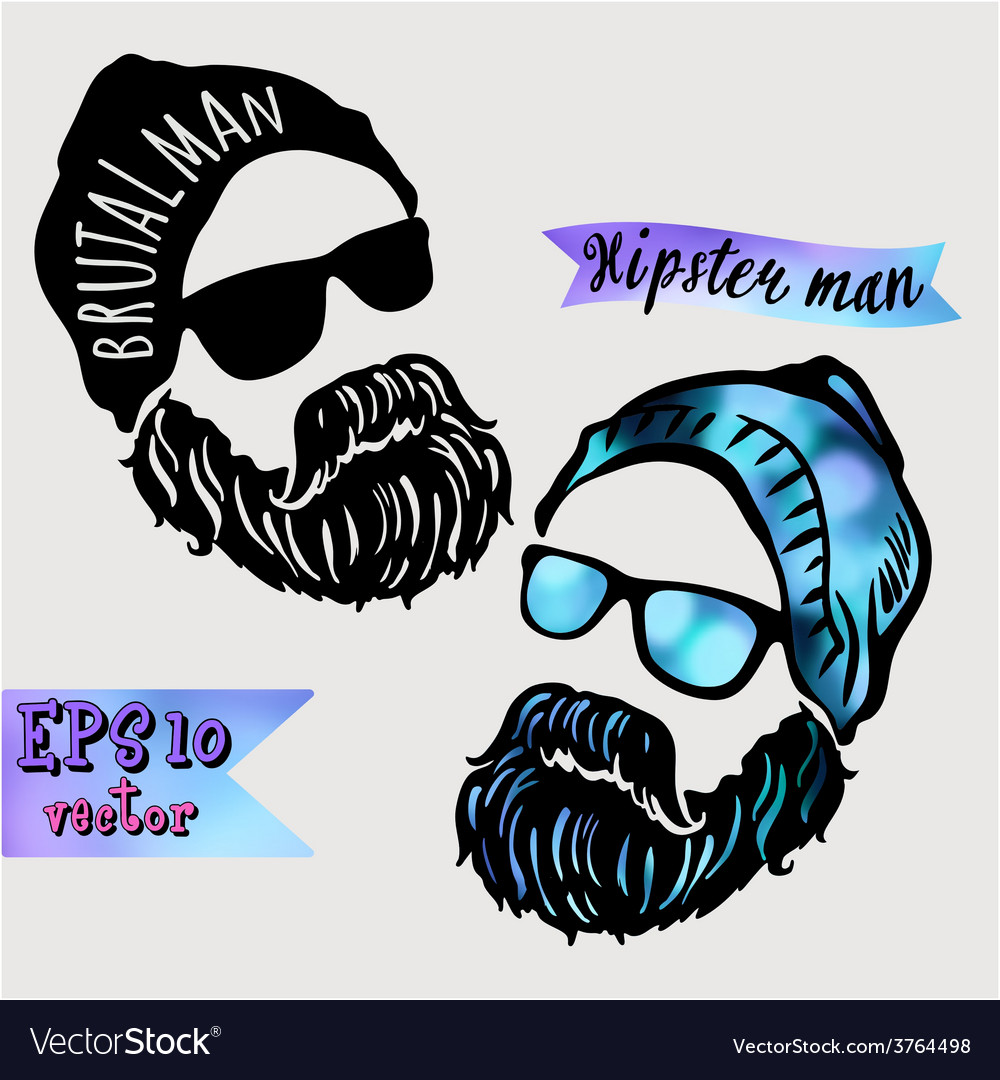 Hipster and dreamer-symbol of a young successful vector | Price: 1 Credit (USD $1)