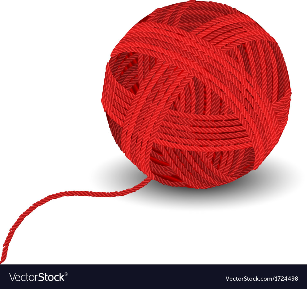 Red yarn ball vector | Price: 1 Credit (USD $1)