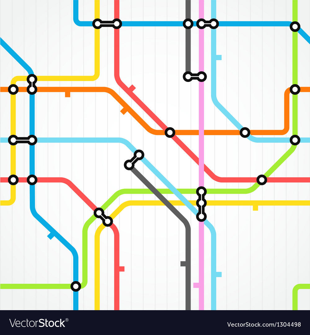 Seamless background of metro scheme vector | Price: 1 Credit (USD $1)