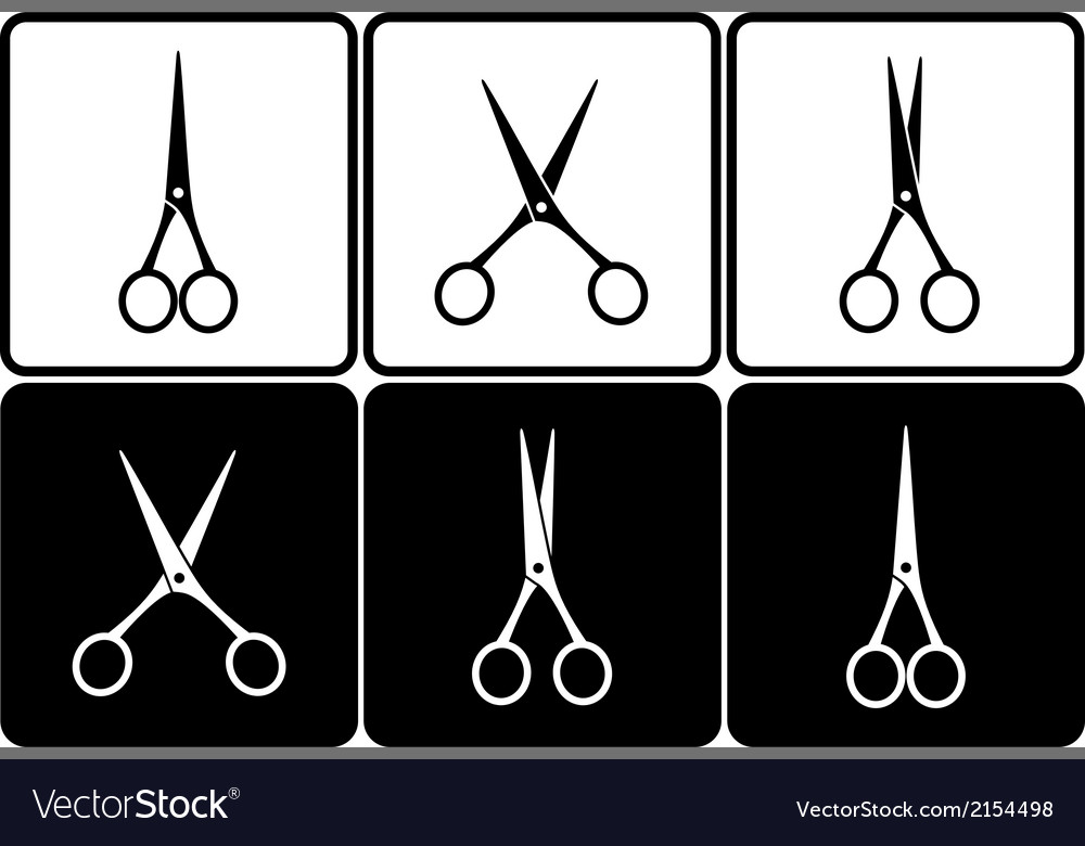 Set with scissors vector | Price: 1 Credit (USD $1)