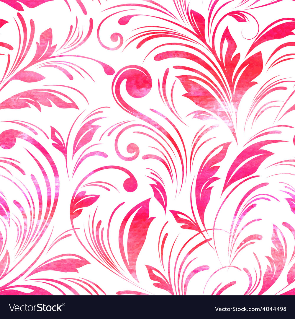 Watercolor pink floral seamless vector | Price: 1 Credit (USD $1)
