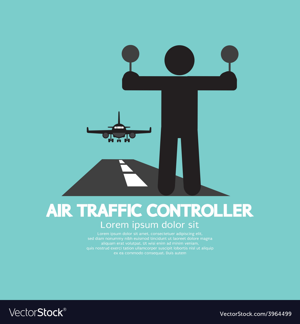 Air traffic controller graphic symbol vector | Price: 1 Credit (USD $1)