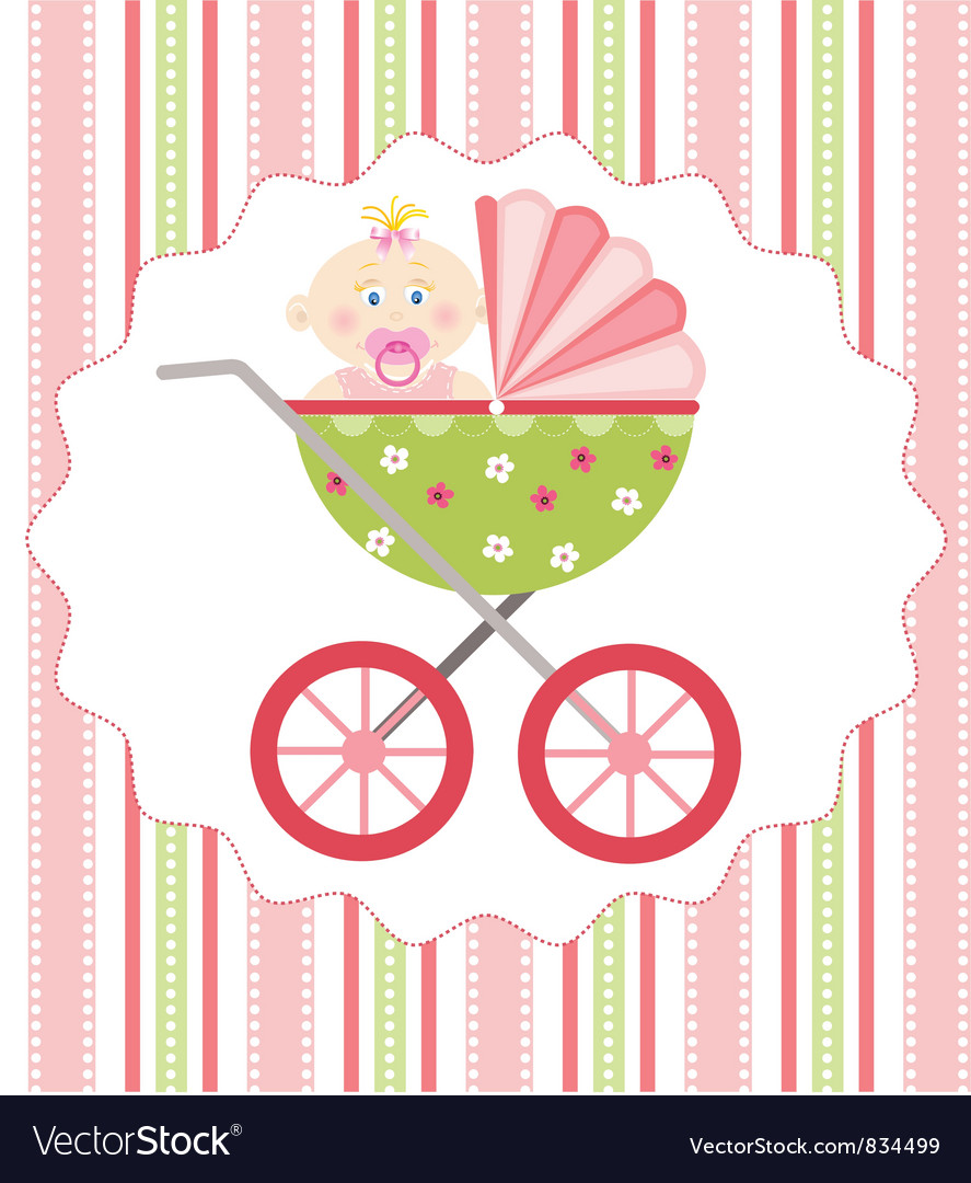 Baby girl arrival vector | Price: 1 Credit (USD $1)