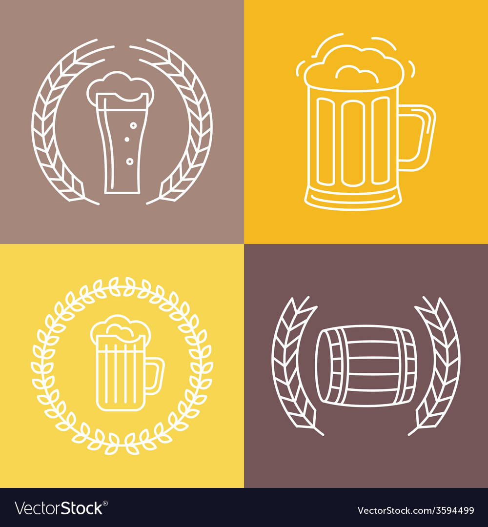 Beer logos and signs vector | Price: 1 Credit (USD $1)