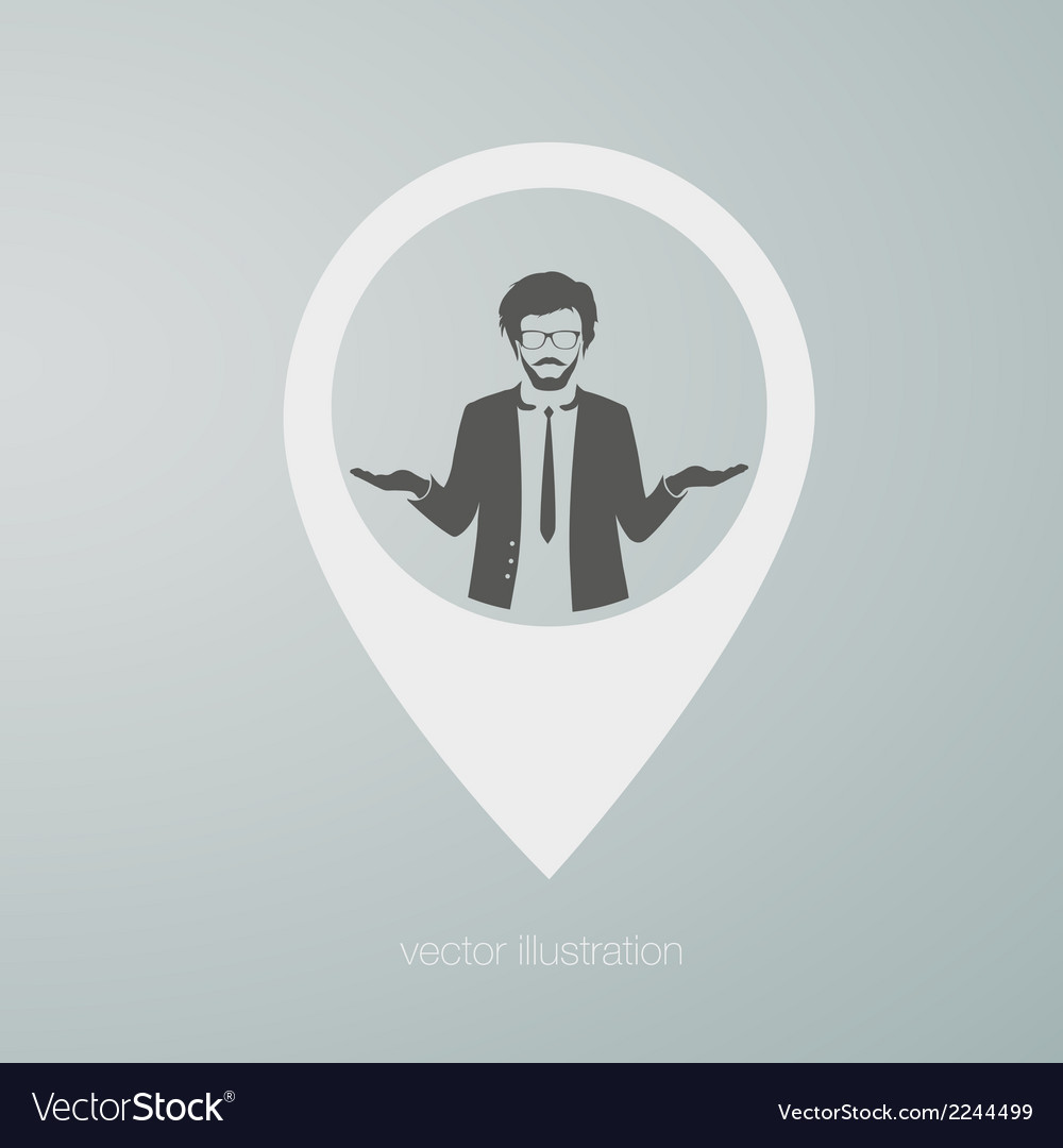 Businessman icon vector | Price: 1 Credit (USD $1)