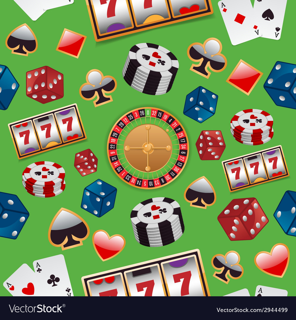 Casino seamless pattern vector | Price: 1 Credit (USD $1)