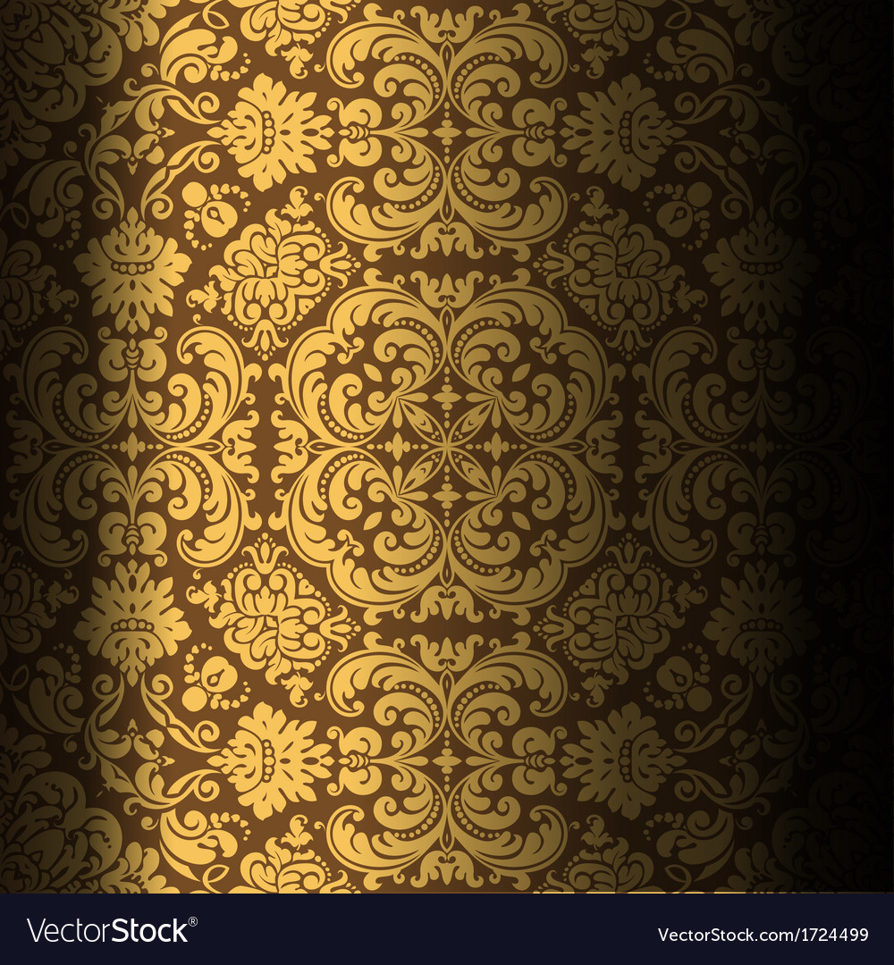 Dark background baroque design vector | Price: 1 Credit (USD $1)