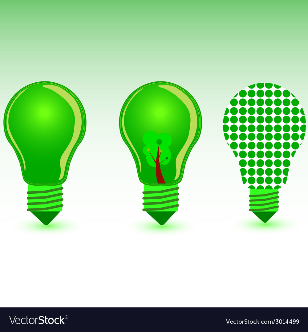 Green bulb color vector | Price: 1 Credit (USD $1)