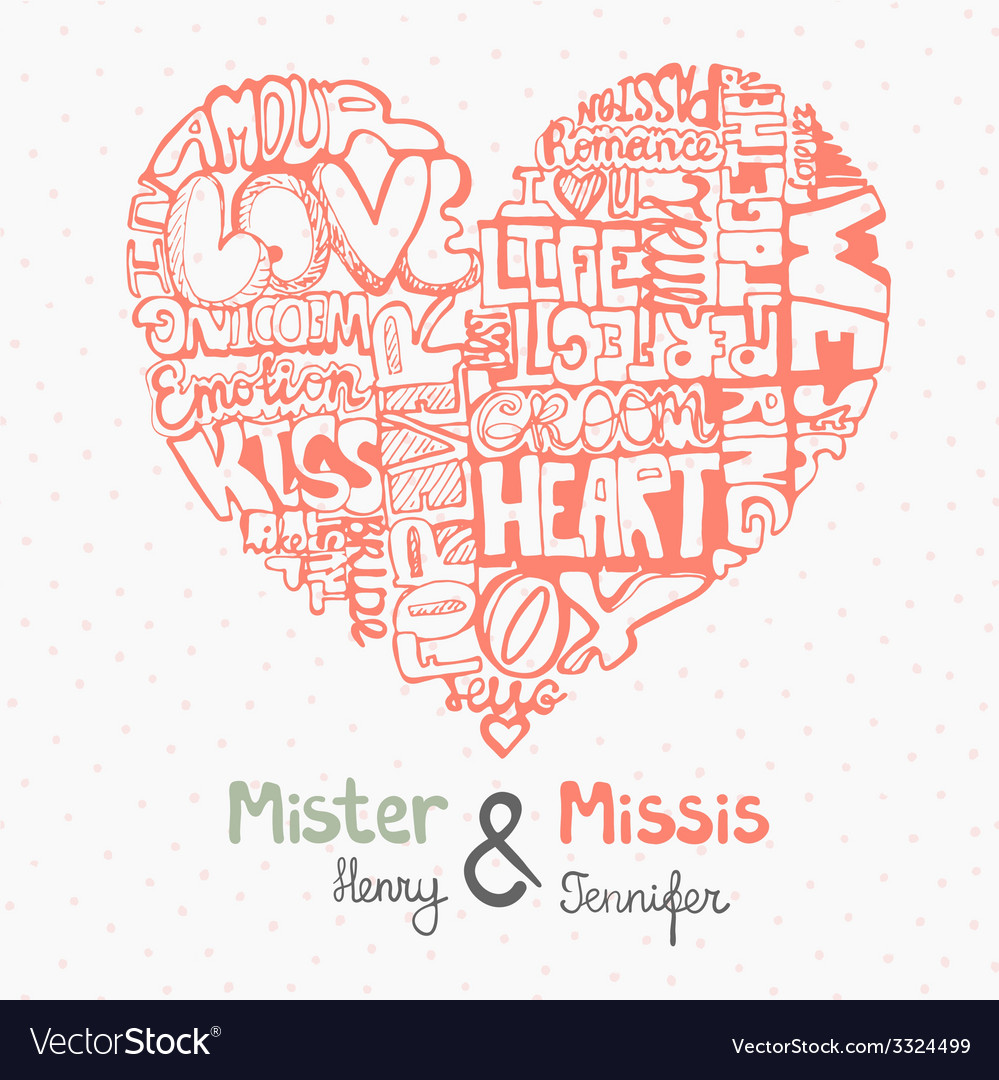 Heartwords8 vector | Price: 1 Credit (USD $1)