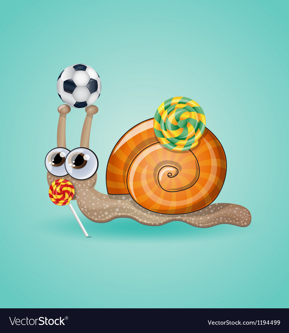 Isolated funny kid snail vector | Price: 3 Credit (USD $3)