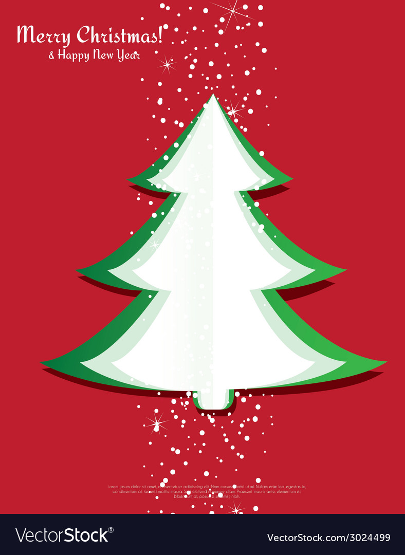 Simple christmas tree made from pieces of paper vector | Price: 1 Credit (USD $1)