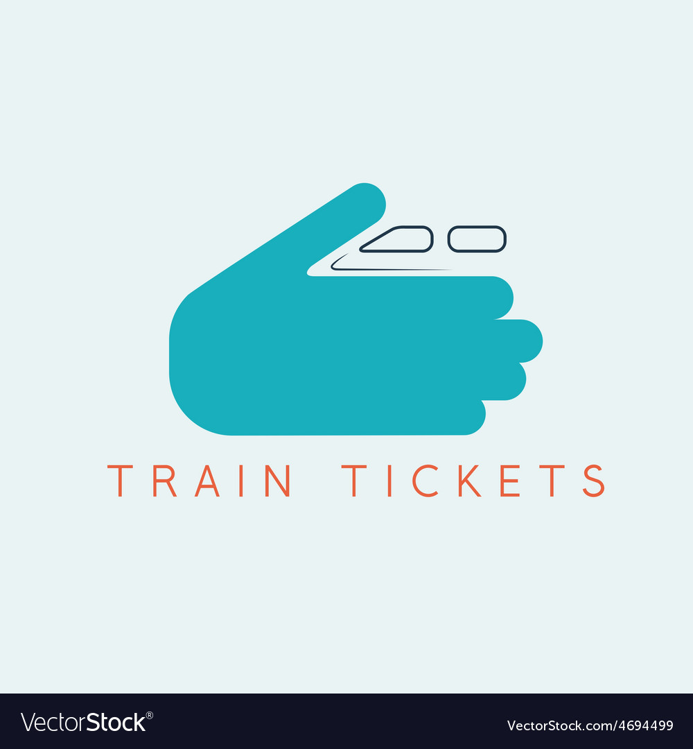 Train tickets design template with hands vector   Price: 1 Credit (USD $1)