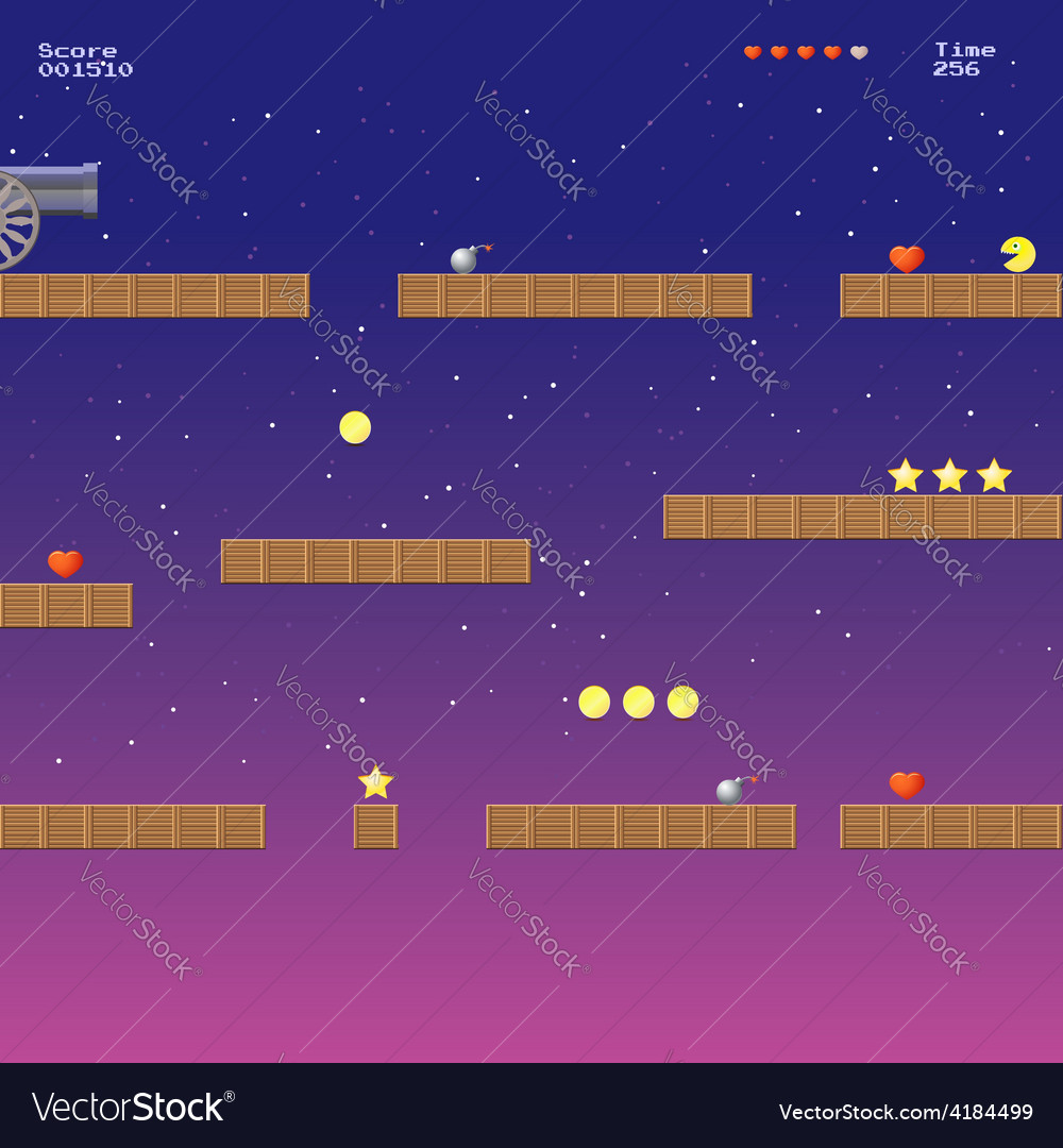 Video game location arcade games vector | Price: 1 Credit (USD $1)