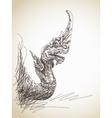 Dragon statue vector