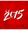 Calligraphy new year sign on red triangles vector