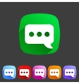 Chat speech bubble flat icon vector