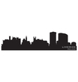 Limerick ireland skyline detailed silhouette vector