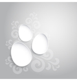 Abstract easter eggs on gray backround vector