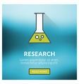 Flat design concept for research with blurr vector
