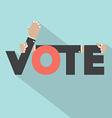 Vote with hands typography design vector