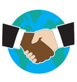 World hand shake vector