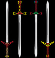 Colour swords vector