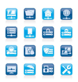 Hosting and internet icons vector