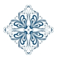 Winter snowflake shape as floral ornament vector