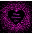 Frame of many hearts - valentines day vector