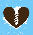 Screwed heart vector