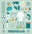 Science lab objects and icons vector