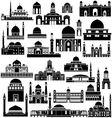 Architecture asia 4 vector