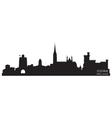 Cork ireland skyline detailed silhouette vector