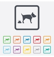 Feces sign icon clean up after pets symbol vector