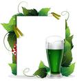 Leprechaun green beer vector